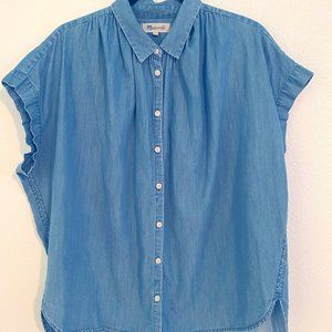 L Madewell Denim Central Shirt Roberta Wash